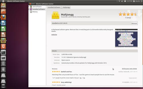 Figura 3: Il Software Center: commenti e voti ad ogni applicazione