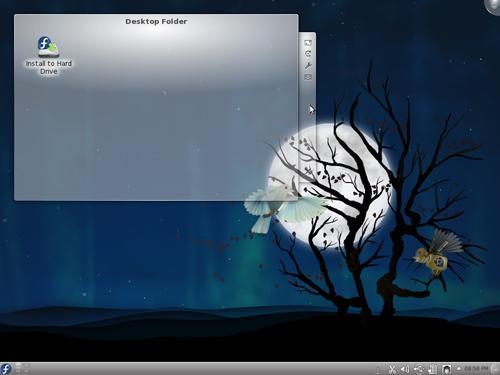 Il desktop della KDE Spin con KDE 4.6