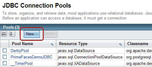 Creare un JDBC Connection Pool