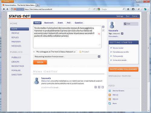 Figura 4: Status.net