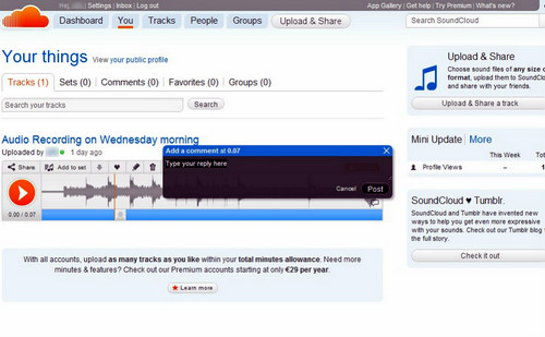 Figura 1: Soundcloud
