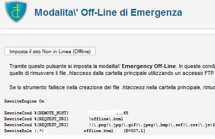 Modalità Off-Line di Emergenza