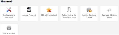 Strumenti Admin tools