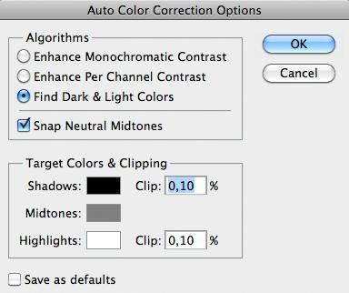 Trovare i colori chiari e gli scuri
