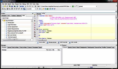 Figura 5: Esempio applicativo di EngInSite PHP Editor