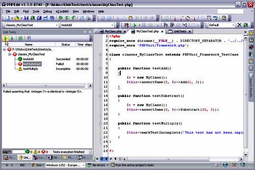 Figura 6: PHPEdit e un esempio d'utilizzo