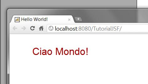 anteprima di index.jsp di HelloWorldJSF nel browser