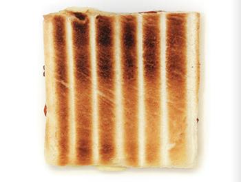 Un toast in griglia