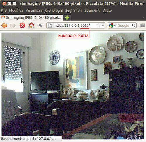 Figura 2: Webcam Server con Motion