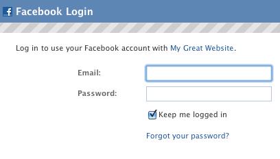 facebook: login