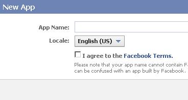 creazione di una nuova applicazione per facebook