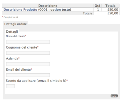 eShop pagina checkout modificata