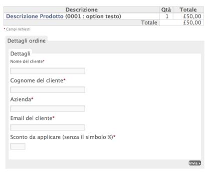 eShop pagina checkout modificata