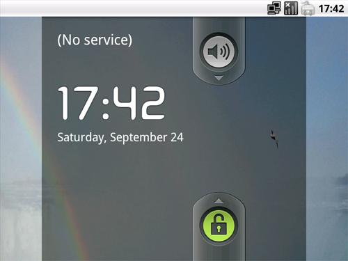 Figura 2: L'interfaccia di Android x86 2.2