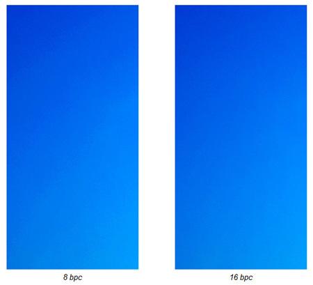 Confronto immagine a 8 bpc e 16 bpc