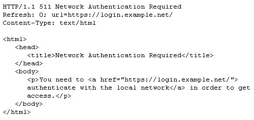511 Network Authentication Required