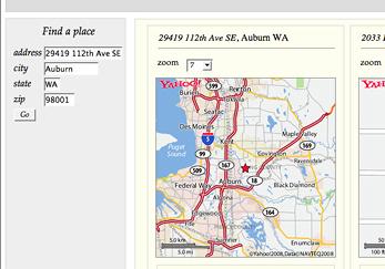 webservices di Yahoo! per le mappe