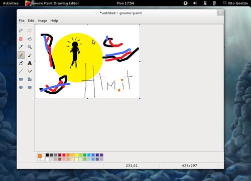 Figura 10: Gnome Paint approda su Fedora Verne