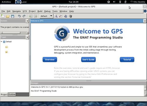 Figura 7: GPS, una IDE per Ada, utilizzabile su Fedora 16