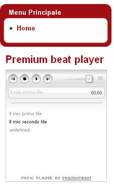 Premium Beat Player sul nostro sito Joomla