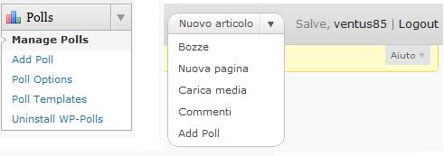 I due modi per aggiungere un nuovo sondaggio