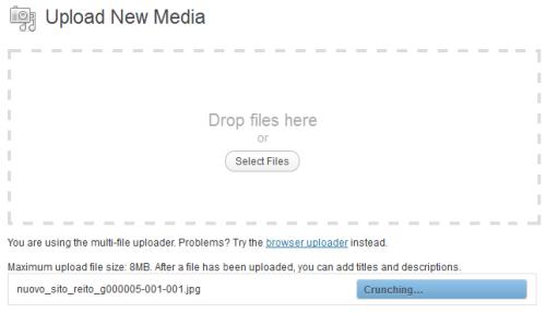 Media Uploader con supporto per il Drag & Drop