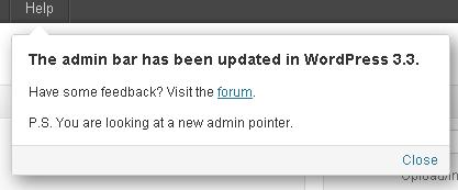 Notifica di aggiornamento tramite Pointer