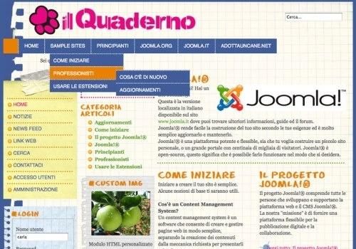 Il Quaderno, template per Joomla 1.7