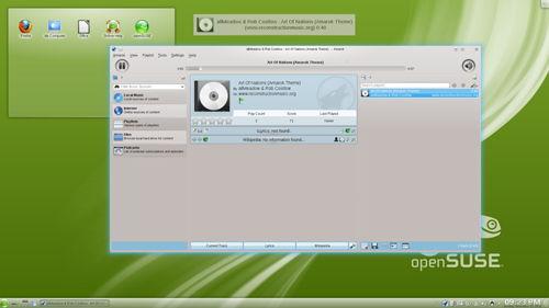 Figura 6: Amarok su openSUSE 12.1
