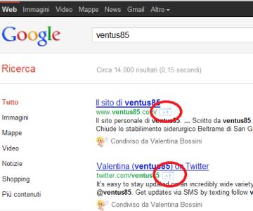 icona di Google+ sui risultati ricerca