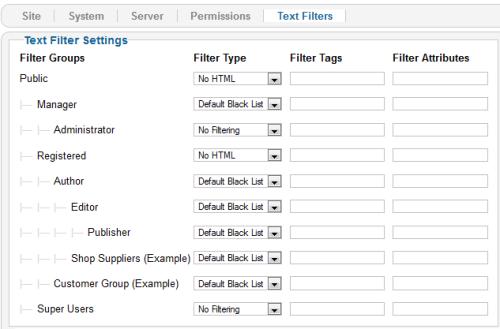 Utilizzo dei filtri testuali per i gruppi di utenti