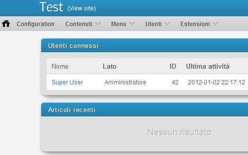 Figura 3. Template Minimal Joomla admin