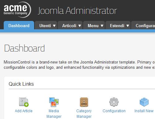 Figura 5. MissionControl per Joomla 1.7