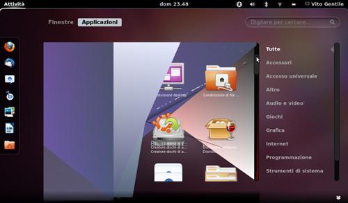 Figura 4: Bug di GNOME Shell su Ubuntu 11.10