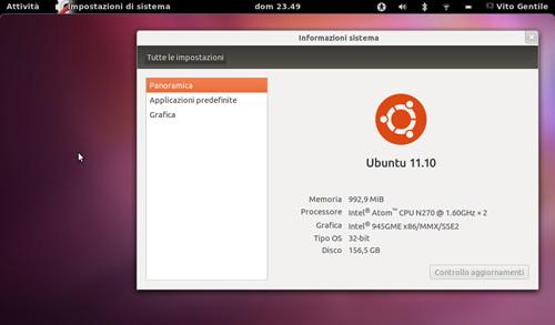 Figura 3: GNOME Shell su Ubuntu 11.10