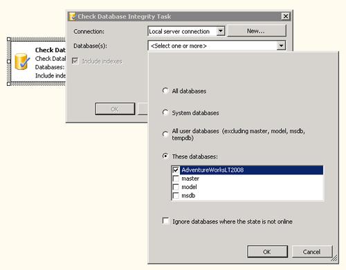 Check integrity task (configurazione)