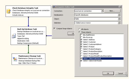 Reorganize  Index Task (configurazione)