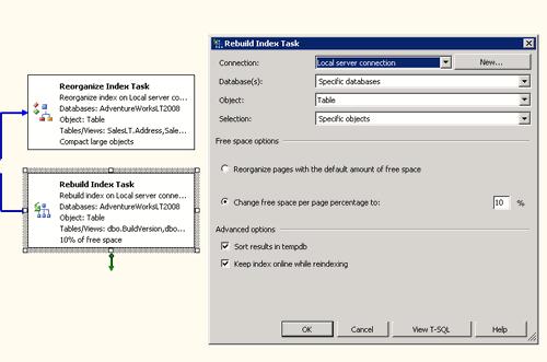 Rebuild Index Task  (configurazione)