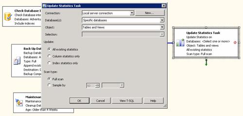 Update Statistics Task  (configurazione)