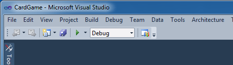 La toolbar semplificata di dev11