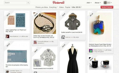 Figura 3: i Pinterest gifts