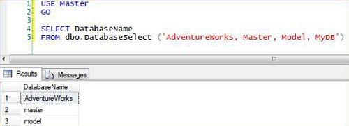 Figura 3: la funzione di selezione del database