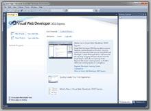 Visual Web Developer 2010 Express è un edito free e per sviluppatori web anche esperti