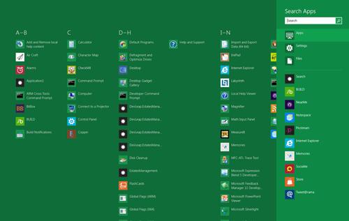 La ricerca su Windows 8