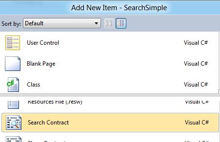 Aggiungere un item 'Share Contract' al progetto
