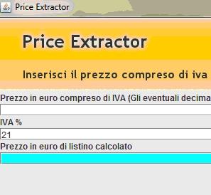PriceExtractor: aggiunta di un container