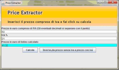 PriceExtractor: calcolo IVA