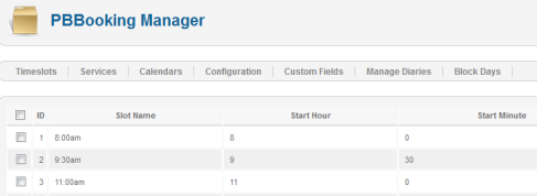 PBBooking Manager