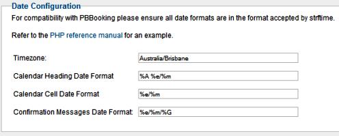 Configurazione del sistema di prenotazioni PBBooking