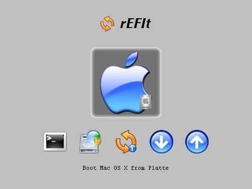 Figura 1: Interfaccia di rEFIt al primo utilizzo